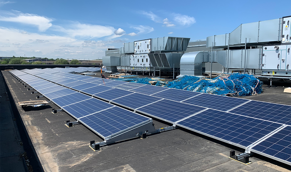 Everards Brewery photovoltaic panels